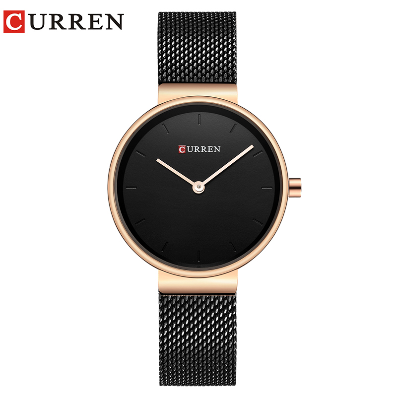 CURREN Women Watch New Quartz Top Brand Luxury Fashion Wristwatches Ladies Gift relogio feminino a suit of vintage rhinestone artificial crystal necklace ring and earrings for women