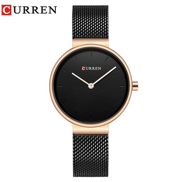 Curren 9016 Для женщин смотреть новый кварцевые Лидирующий бренд Роскошные модные Наручные часы Дамы подарков Relogio feminino