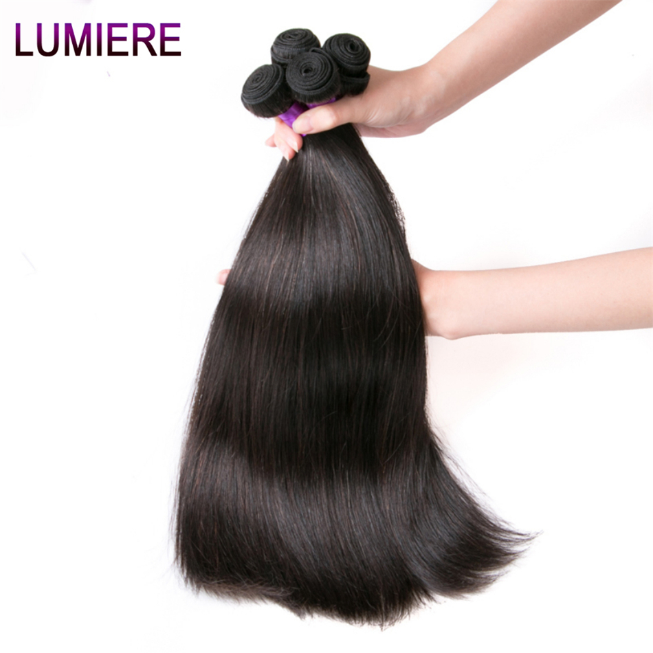 Hot Sale Lumiere Hair Peruvian Straight Hair Extensions Remy Hair
