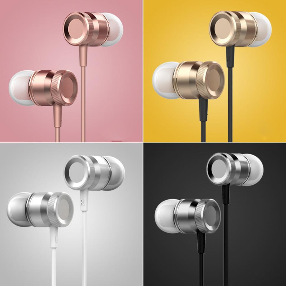 3.5mm Met Microfoon Bass Stereo In-ear Koptelefoon Hoofdtelefoon Headset Magnetische Oordopjes Muziek Bellen Telefoongesprek