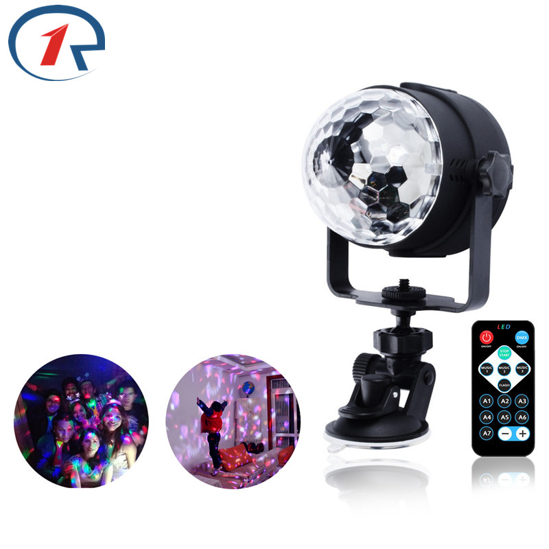 ZjRight RGB LED Crystal Magic Rotating Ball Stage Lights USB 5V Colorful ktv DJ light disco light gift Bar Sound Control Lights mini rgb led party disco club dj light crystal magic ball effect stage lighting