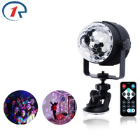 ZjRight RGB LED Crystal Magic Rotating Ball Stage Lights USB 5V Colorful Ktv DJ Light Disco