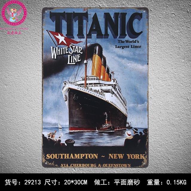 30X20CM Classical Titanic Vintage Home Decor Tin Sign for Wall Decor ...
