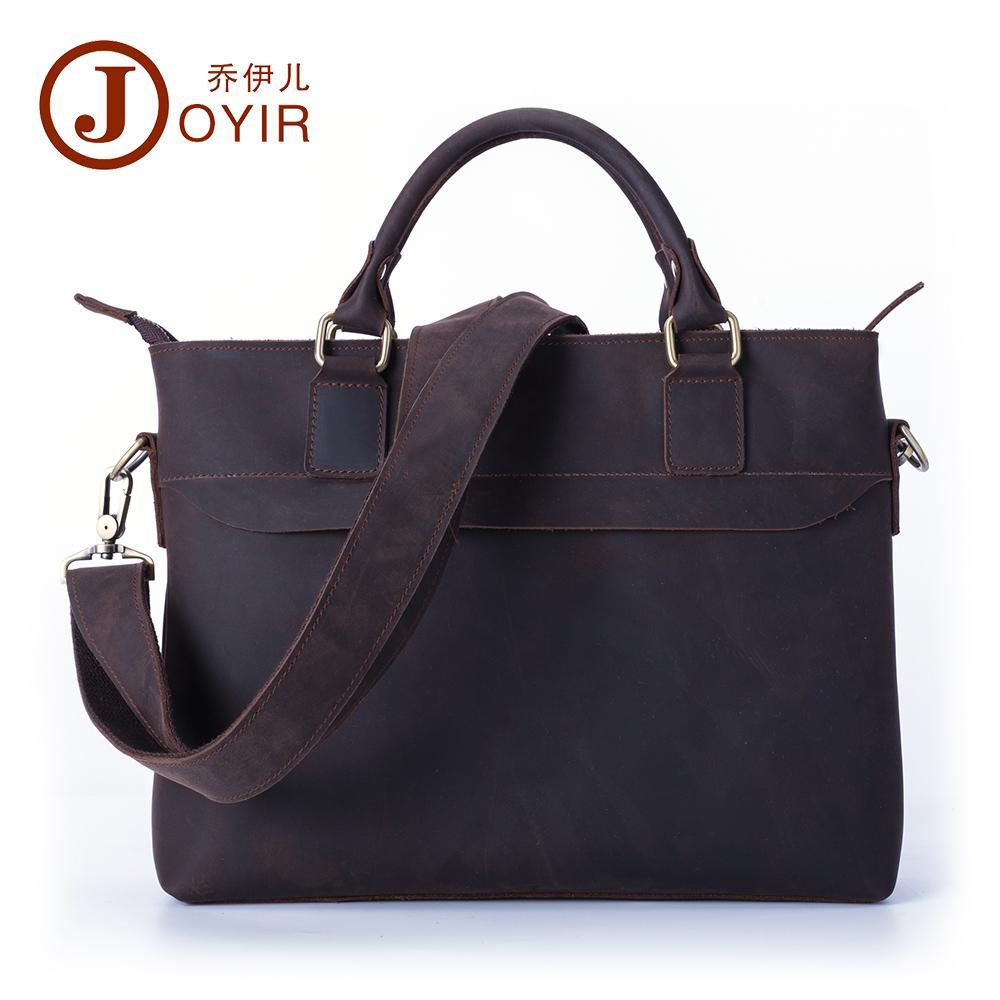 JOYIR 2016 New Men Business Genuine Leather Briefcase Pocket Messenger Crossbody Bag Laptop Handbags Shoulder Bag Tote Bag 6316