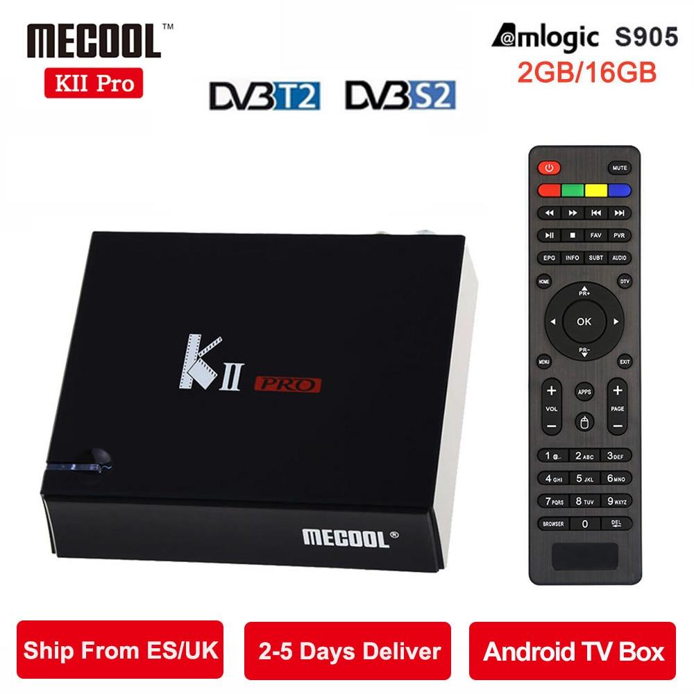 MECOOL DVB T2 Android TV Box 4K KII Pro 2GB 16GB DVB S2 Amlogic S905 Bluetooth
