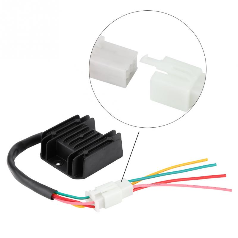 4 Wires Motorcycle Voltage Rectifier Regulator Rectifier for Motorcycle Boat Motor ATV GY6 50 150cc Scooter Car Accessories