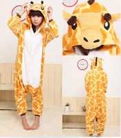 Free Shipping Giraffe New Men Anime Pajamas Panda Costume Pyjamas Hoodies Adult Cartoon Animal Onesies Sleepwear