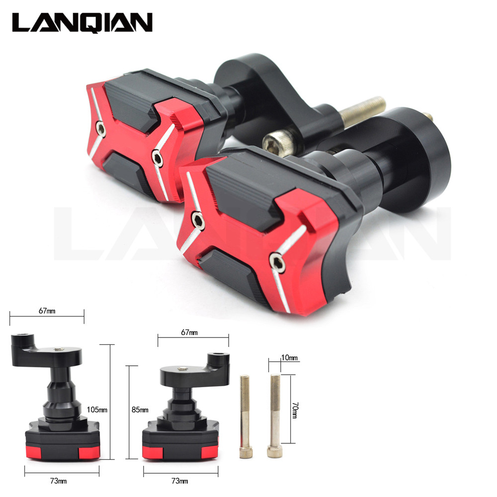 Motorcycle Pad Side Shield Protector Frame Slider Crash Engine Guard protection For YAMAHA YZF R1 2007 2008 YZF-R1 07 08 YZFR1