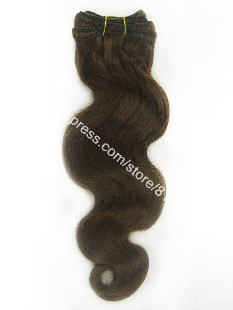 #4 Brown Wave Weave 3pcs/lot Queen Quality Hair Body Wave 100% Brazilian Virgin Remy Weave Hair Extension