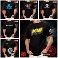 DOTA T shirt Navi Natus Vincere fnatic IG Invictus CLOUD9  DK Alliance NEWBEE DOTA 2 Game Team T shirts Men Short Sleeve Tee
