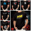 DOTA camiseta Natus Vincere Navi fnatic IG Invictus CLOUD9 DK alianza NEWBEE DOTA 2 Juego Equipo camisetas Hombre de Manga Corta Tee