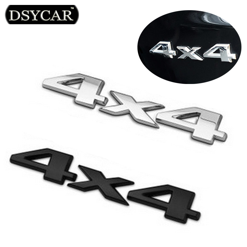 DSYCAR 3D 4x4 Four wheel drive Car sticker Logo Emblem Badge Decals Car Styling Accessories for Frod Bmw Lada Honda Audi Toyota car keychain key ring pendant metal alloy logo car emblem keyrings for vw audi toyota universal benz bmw car styling accessories