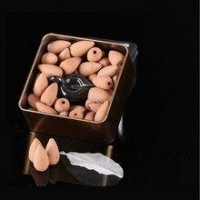 Cones de incenso para cascata 100% sândalo natural de fabrico artesanal (oferta de mini queimador)