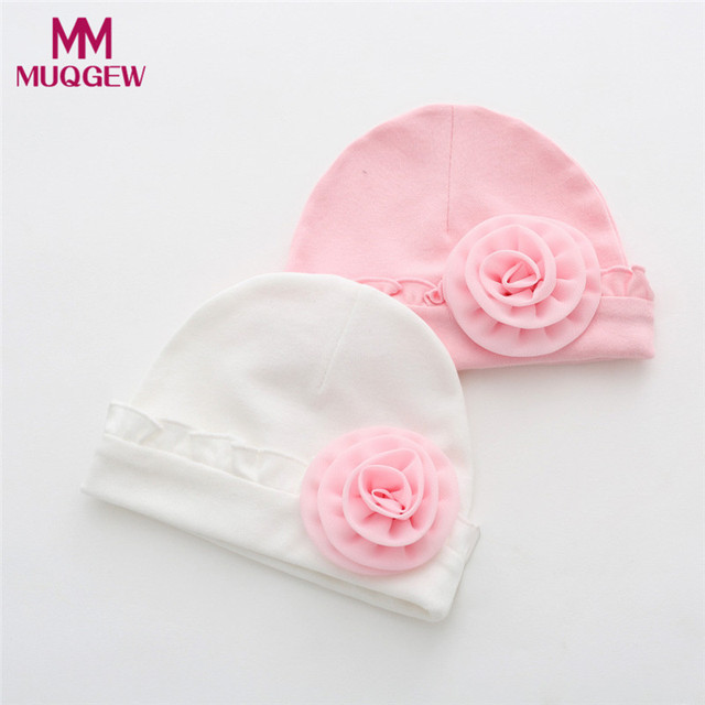 2018 Newborn Baby Girls Infant Flower Hat Soft Cotton Beanie Hat for  Toddler Baby Girl Boy Child Caps babies hats photography 09d255f9c04