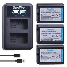 3pc NP-FW50 NP FW50 Li-ion Battery+ LED Charger For Sony A6000 NEX-7 NEX-5N NEX-F3 3D NEX-3DW NEX-3K NEX-5C Alpha 7R II NP-FW50