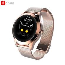 KW10 умный Браслет Для женщин часы IP68 Водонепроницаемый мониторинга сердечного ритма Bluetooth для Android IOS Фитнес Браслет Smartwatch
