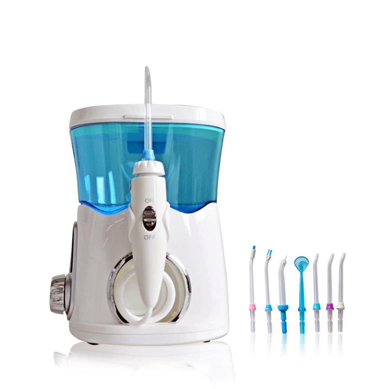 Household Dental Water Flosser Oral Irrigator Rechargeable Water Pick Jet Irrigator For Teeth Cleaning  With 8pcs Nozzle Tips