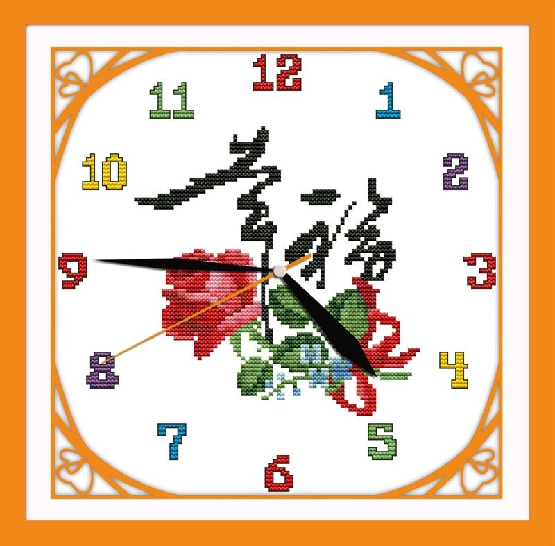 Настенные часы вышивка крестом