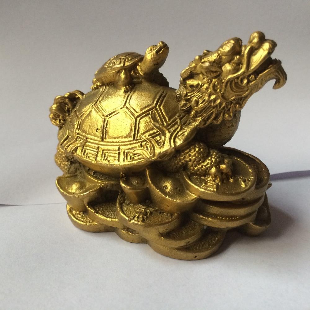 chinese brass wealth money coin ingot dragon turtle Tortoise ...