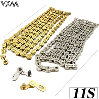 VXM Bicycle Chain 11 Speed X11 X11EL Super Light Mountain Bike Chain Single 116 Links Gold