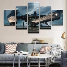 Modern Canvas Oil Painting Style Modular Wall Art Pictures Home Decor 5 Panel Spaceship Star Citizen Game Poster HD Printed