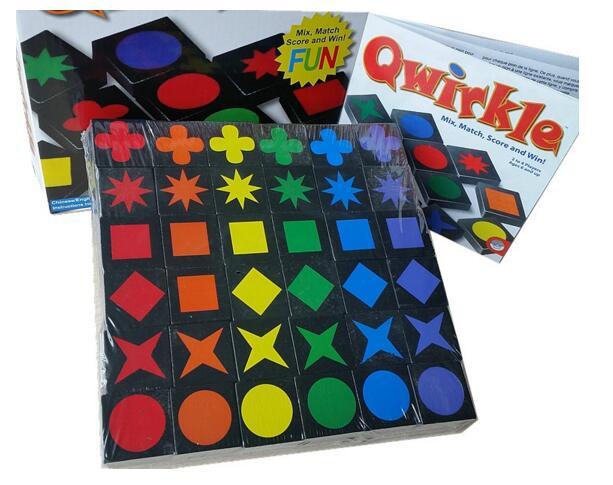 Instock qwirkle gioco da tavolo piastrelle di legno giochi per