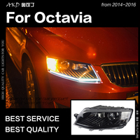 AKD Car Styling Head Lamp for Skoda Octavia Headlights 2015 2017 Octavia A6 LED Headlight DRL Hid Bi Xenon Auto Accessories