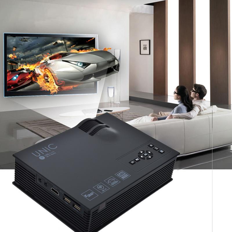 Prix pour Mini Projecteur 1080 P Smart Miracast Airplay WIFI Théâtre 1200 Lumens HDMI AV USB SD IR Portable Projetor DHL livraison gratuite