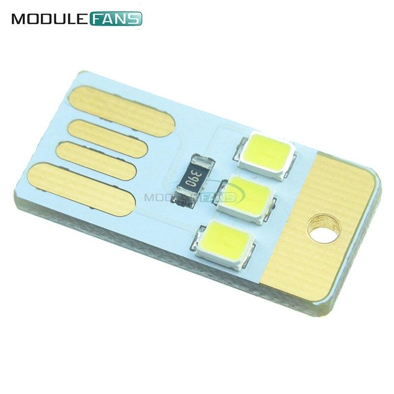 Electronic Components & Supplies Bright 5pcs Mini Night Usb Led Keychain Portable Power White Board Pocket Card Lamp Bulb Led