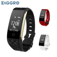 Diggro Bluetooth 4 0 S2 Smart Wristband Band Heart Rate Monitor Sport IP67 Waterproof OLED Smartband