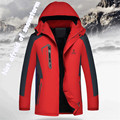 Novo estilo homens jaqueta de inverno além de veludo à prova de vento quente à prova d' água moda homens inverno jaqueta acolchoada 2XL-6XL roupas tamanho grande