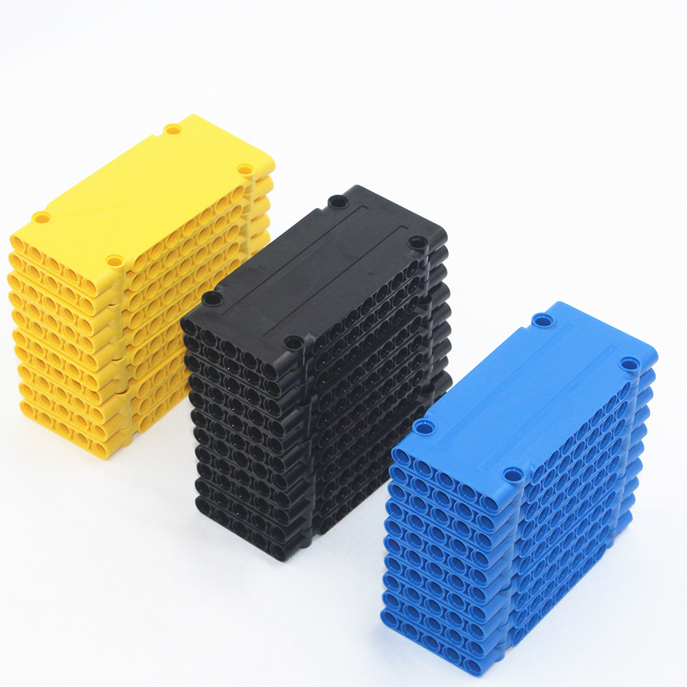 Self-Locking Bricks Free Creation Of Toys -- MOC Building Blocks 10 Pieces Technic Flat Planel 5x5x11 Compatible With Lego