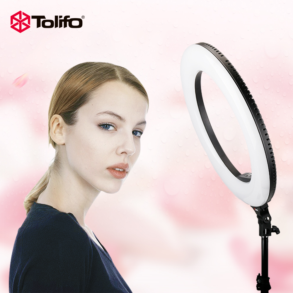 Tolifo R48B 48W Bi-color 2.4G Wireless Remote Control Dimmable Camera/Video/Photography LED Ring Light Two Power Supply Modes