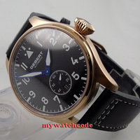 42mm debert black dial rose gold sapphire glass Automatic mens womens Watch D18