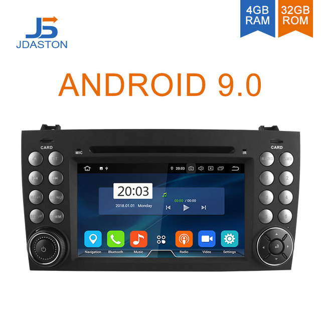 JDASTON Android 9.0 Car DVD Player For Mercedes Benz SLK Class R171 SLK230 W171 2 Din Car Radio Multimedia GPS Octa Cores 4G+32G