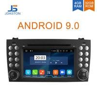 JDASTON Android 9.0 Car DVD Player For Mercedes Benz SLK Class R171 SLK230 W171 2 Din Car Radio Multimedia GPS Octa Cores 4G+32G