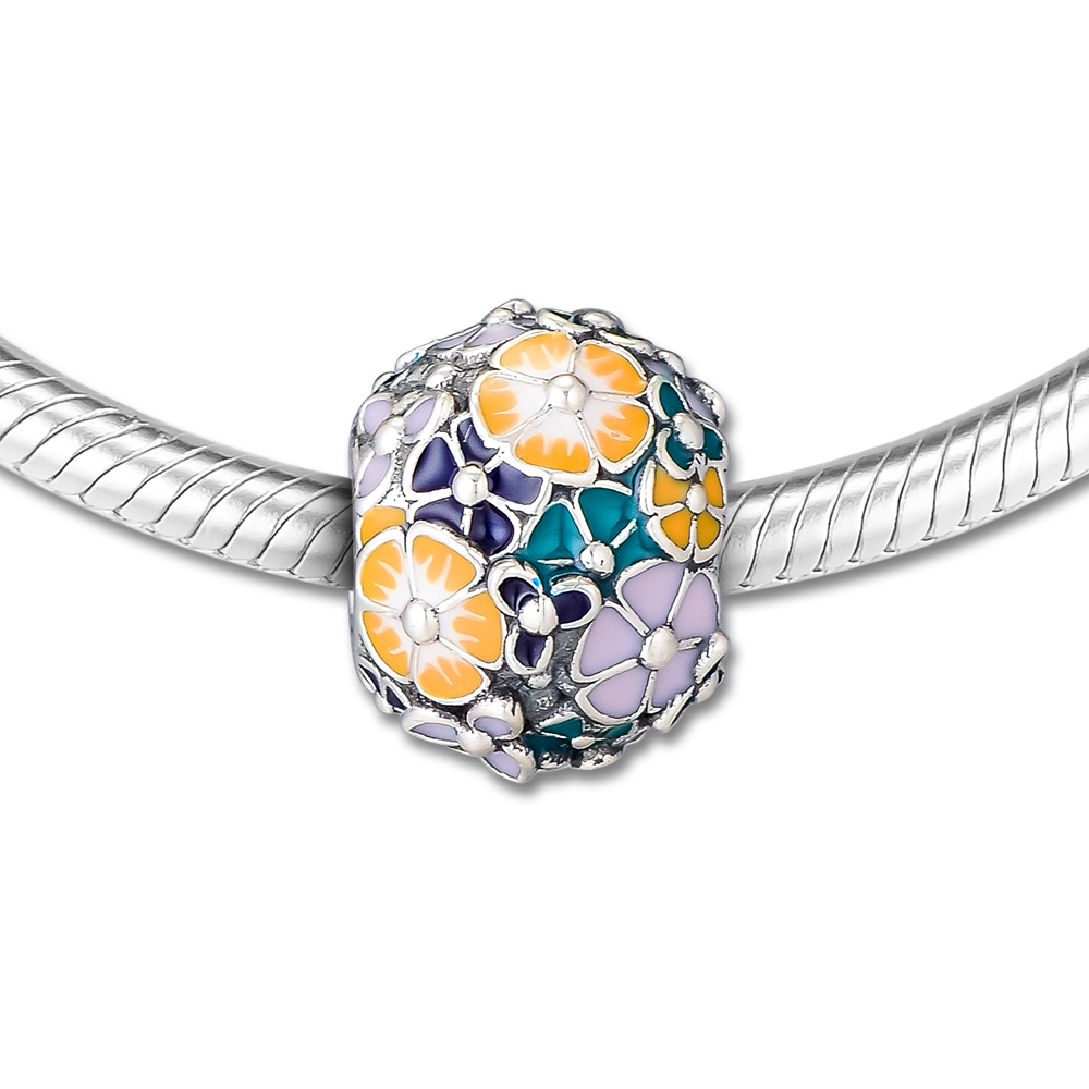 DIY Fits for Pandora Charms Bracelets Classic Flower Arrangement Beads 100% 925 Sterling-Silver-Jewelry Free ShippingDIY Fits for Pandora Charms Bracelets Classic Flower Arrangement Beads 100% 925 Sterling-Silver-Jewelry Free Shipping