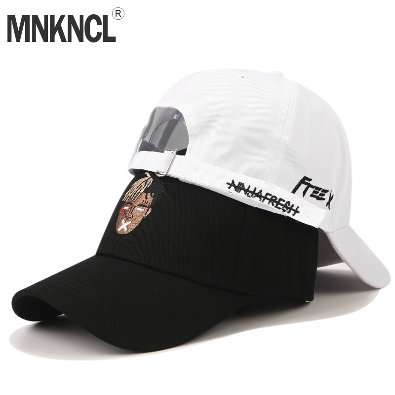 MNKNCL High Quality Unisex 100% Cotton   Baseball     Cap   Singer xxxtentacion Dreadlock Embroidery Snapback Fashion Sports Hats