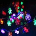 Navidad de Luz AC 110 V/220 V 10 M 100 LED del Copo de Nieve LED cadena de hadas de la lámpara a prueba de agua para Navidad/de la boda/Del Partido de la Decoración al aire libre
