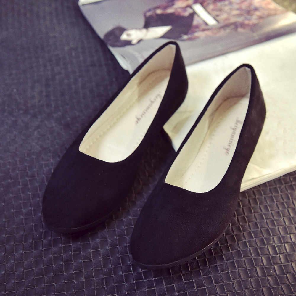 2019 femmes chaussures décontractées plates dames sans lacet chaussures plates sandales décontracté ballerine chaussures mocassim feminino livraison directe # A20