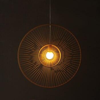 Di bambù di bambù lampadario stringa di lampada e vento Nordic genuino di modo di stile