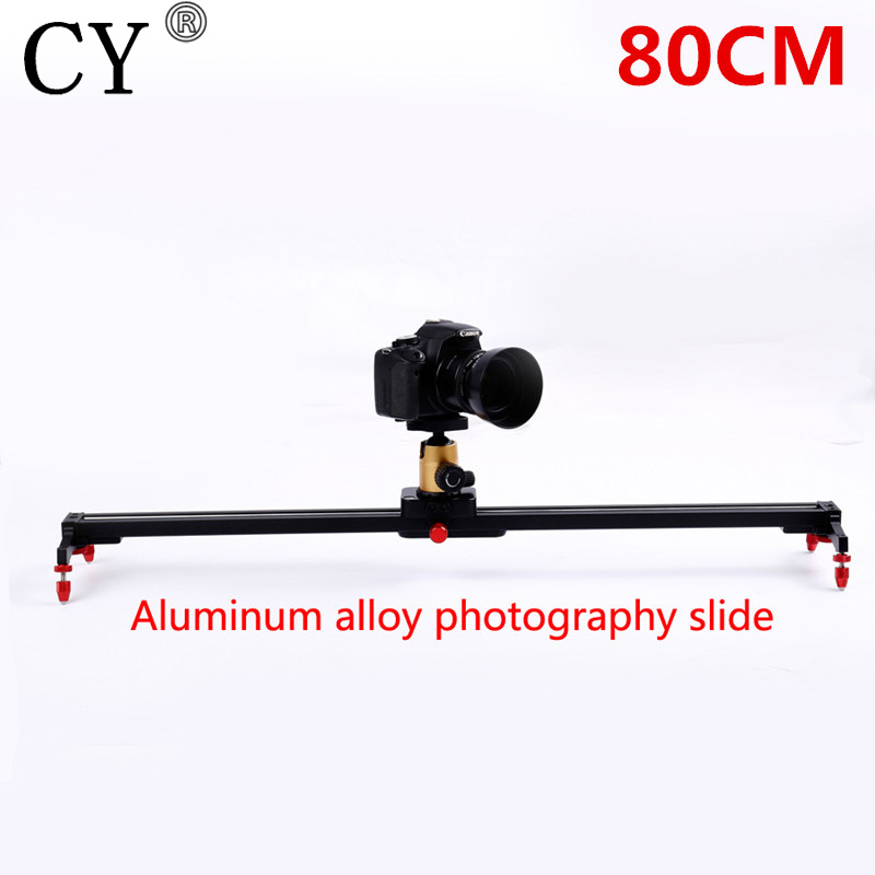 Pro 80cm Camera Track Dolly Slider Rail System Stabilizing Movie Film Video for DSLR DV Cameras Camcorder Photography