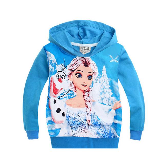 Niñas chaqueta de Otoño el snow queen elsa anna Traje Sudadera Con Capucha de Algodón Outwear Abrigos Niños topolino niños chaquetas bebé ropa