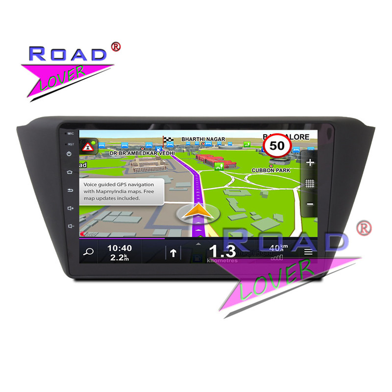 TOPNAVI Android 6.0 2G+32GB Quad Core Car Head Unit GPS Navigation For Skoda Fabia 2015 Stereo NO DVD Player Auto Radio 2Din 3G