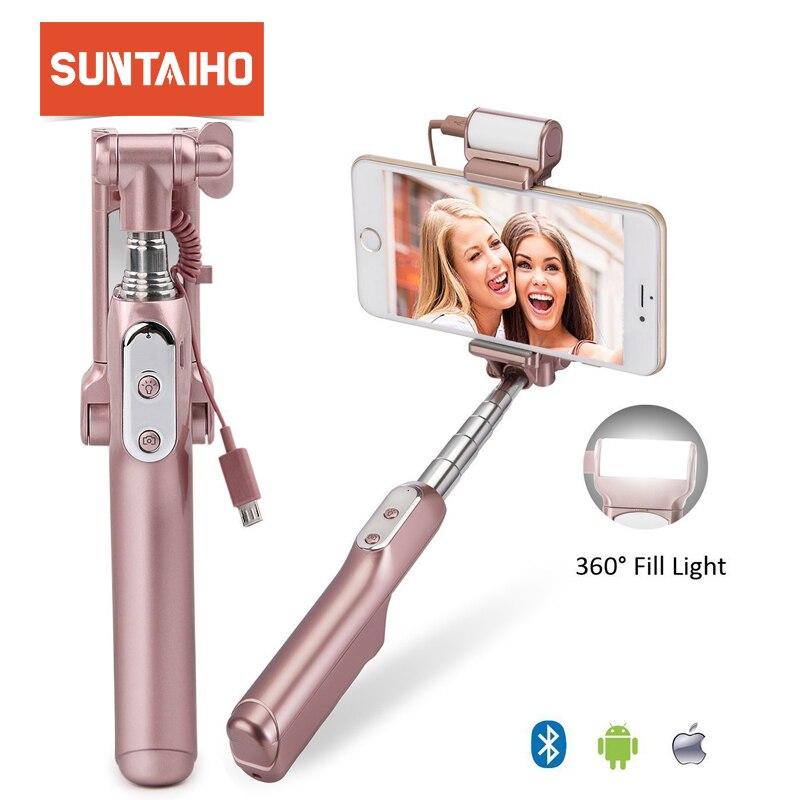 Bluetooth/Wired Monopiede Auto Stick Holder Allungabile portatile Bluetooth di Scatto per iPhone6 6 S/Android palo selfie