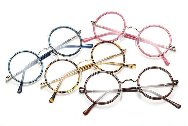 5 pcs/lot 5 colors Vintage Small Round Eyeglass Frames Glass ...