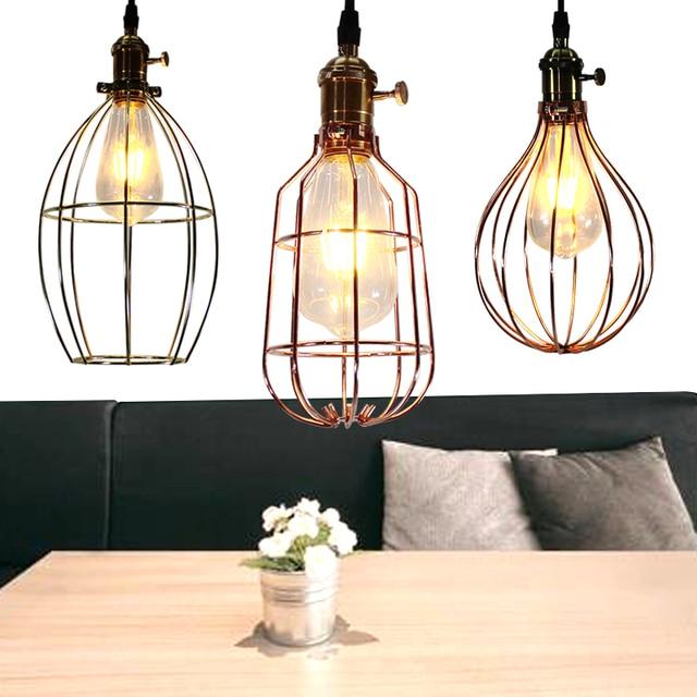 Eisenkafig Lampe Vergoldet Anhanger Pendelleuchten Vintage