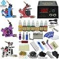 OPHIR Profesional 4 de la Libélula Rotary Tattoo Machine Guns & 6 Colores de Tinta Del Tatuaje y Agujas y agujas de Tatuaje Boquillas Grips _ TA087