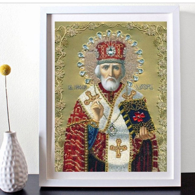Home Decor New 13 colors 5D DIY Magic Cube Round Diamond Embroidery Religion Painting Cross Stitch Kits Home Decoration