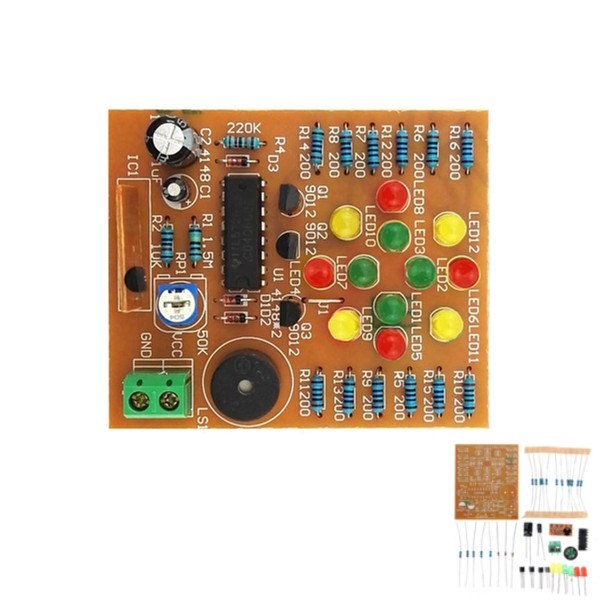 DIY CD4060 Music LED Light Module Kit Electronic Training DC 3V-5V